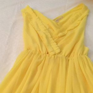 Rachel Roy yellow midi dress new without tag